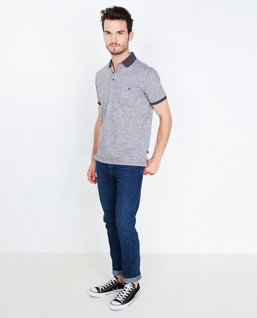 Polo gris chiné - comfort fit - Tim Moore